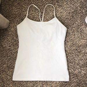 White Lululemon Y-Back Tank